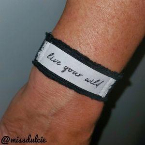 Live Your Wild Bracelet Good Vibes Positive Energy